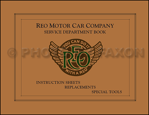 1910-1918 REO Service Manual Reprint