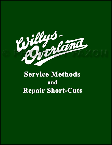 1910-1919 Willys-Knight and Overland Repair Manual Reprint