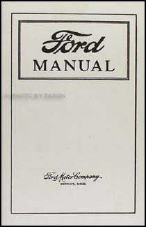 1915-1919 Ford Model T Car & Truck Owner's Manual Reprint