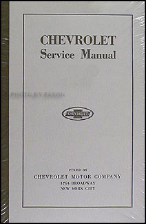 1916-1924 Chevrolet FB & 490 Car and Model T Truck Repair Shop Manual Reprint