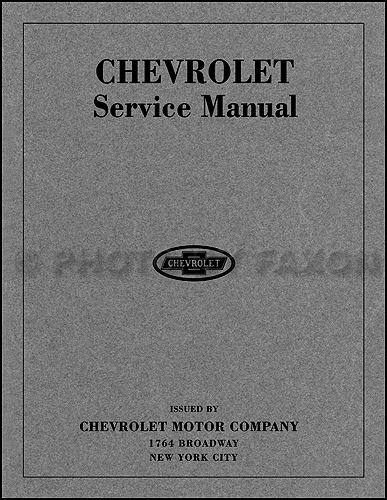 1916-1919 Chevrolet Repair Shop Manual Reprint for 8 Cylinder D and 4 Cyl 490 and F