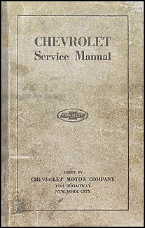 1916-1920 Chevrolet Repair Shop Manual Original FA FB 490 D-V8 Car T Truck