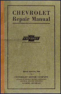 1916-1924 Chevrolet FB & 490 Car, Model T Pickup, Truck Repair Shop Manual Original