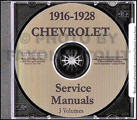 1916-1928 Chevrolet CD-ROM Car and Truck Shop Manual