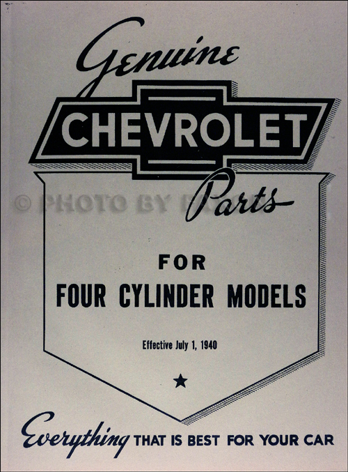 1916-1928 Chevrolet Parts Book Reprint