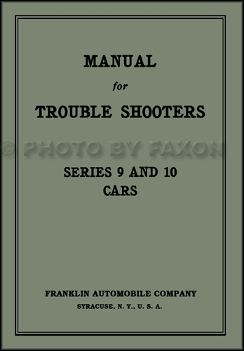1917-1925 Franklin Car Trouble Shooting Manual Reprint