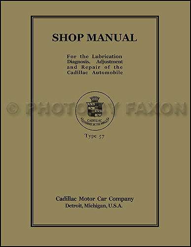 1918-1919 Cadillac Shop Manual Reprint 18-19 service
