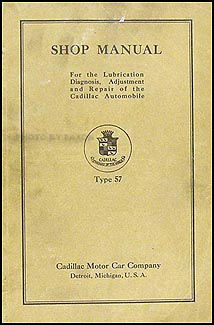 1918-1919 Cadillac Shop Manual Original All Models