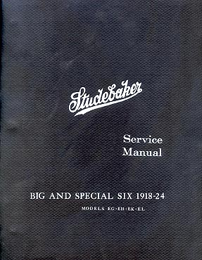 1918-1924 Studebaker Big Six Special 6 Shop Manual Reprint