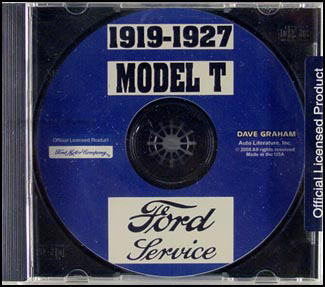 1919-1927 Model T Ford Factory Shop Manual CD-ROM