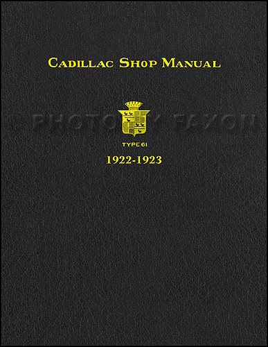 1922-1923 Cadillac Shop Manual Reprint