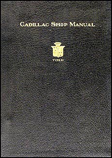 1922-1923 Cadillac Shop Manual Original