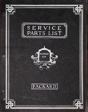 1922-1928 Packard Six Parts Book Reprint 6 Cylinder