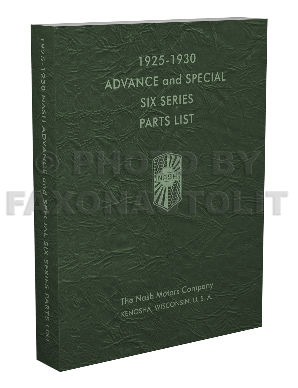1925-1930 Nash Parts Book Reprint Advanced Special Six ONLY