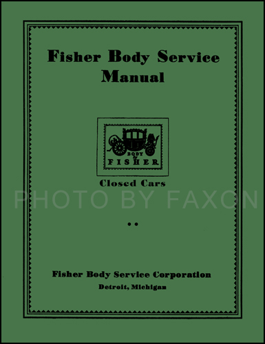 1926-1932 Olds Body Repair Manual Reprint for closed cars, also helpful for open cars