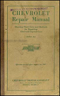 1927 Chevrolet Car & Truck Shop Manual Original