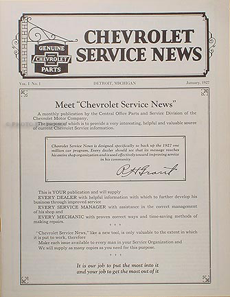 1927 Chevrolet Chevy Reprint Service News Car Pickup and Truck