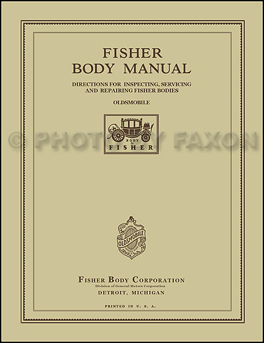 1927 Oldsmobile ONLY Fisher Body Manual Reprint
