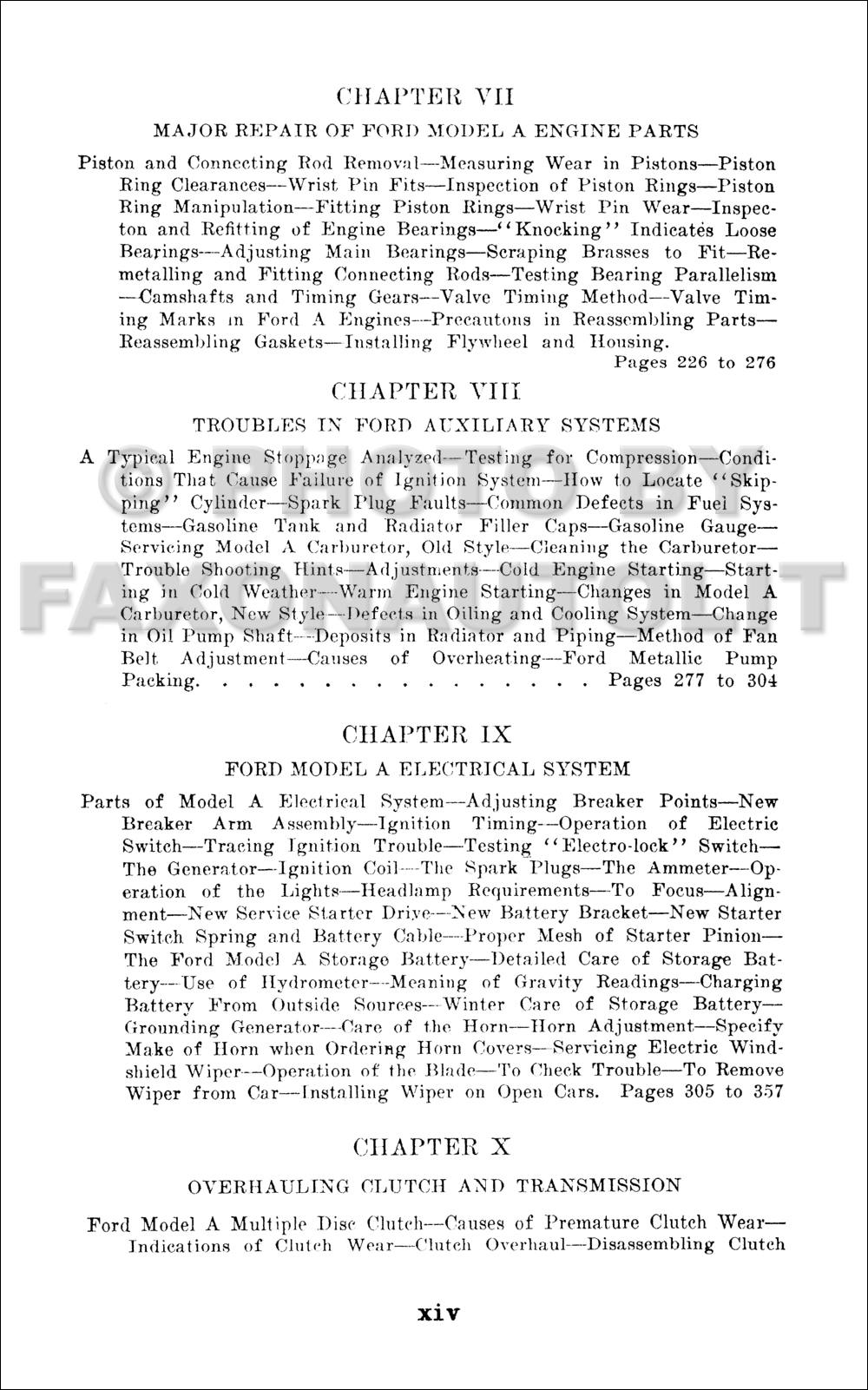 1928 1931 Model A Ford Construction Operation Repair For Restorer Tudor Wiring Diagram Table Of Contents Page 3