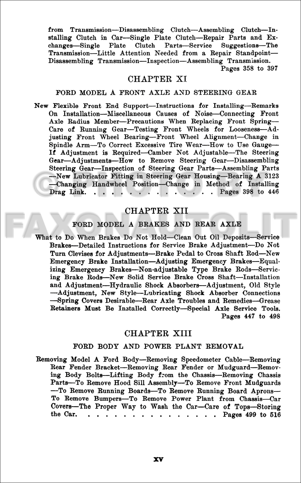 1928 1931 Model A Ford Construction Operation Repair For Restorer Tudor Wiring Diagram Table Of Contents Page 4