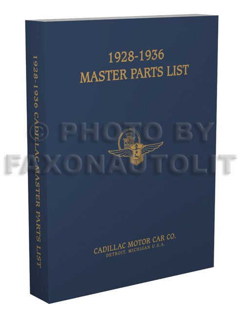 1928-1936 Cadillac Master Parts Book Reprint