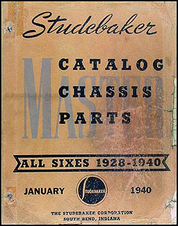 1928-1940 Studebaker 6 Cyl.Mechanical Parts Book Original