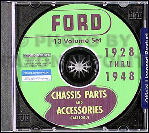 1928-1956 Ford Parts Book CD-ROM Green Bible plus Body Parts Books