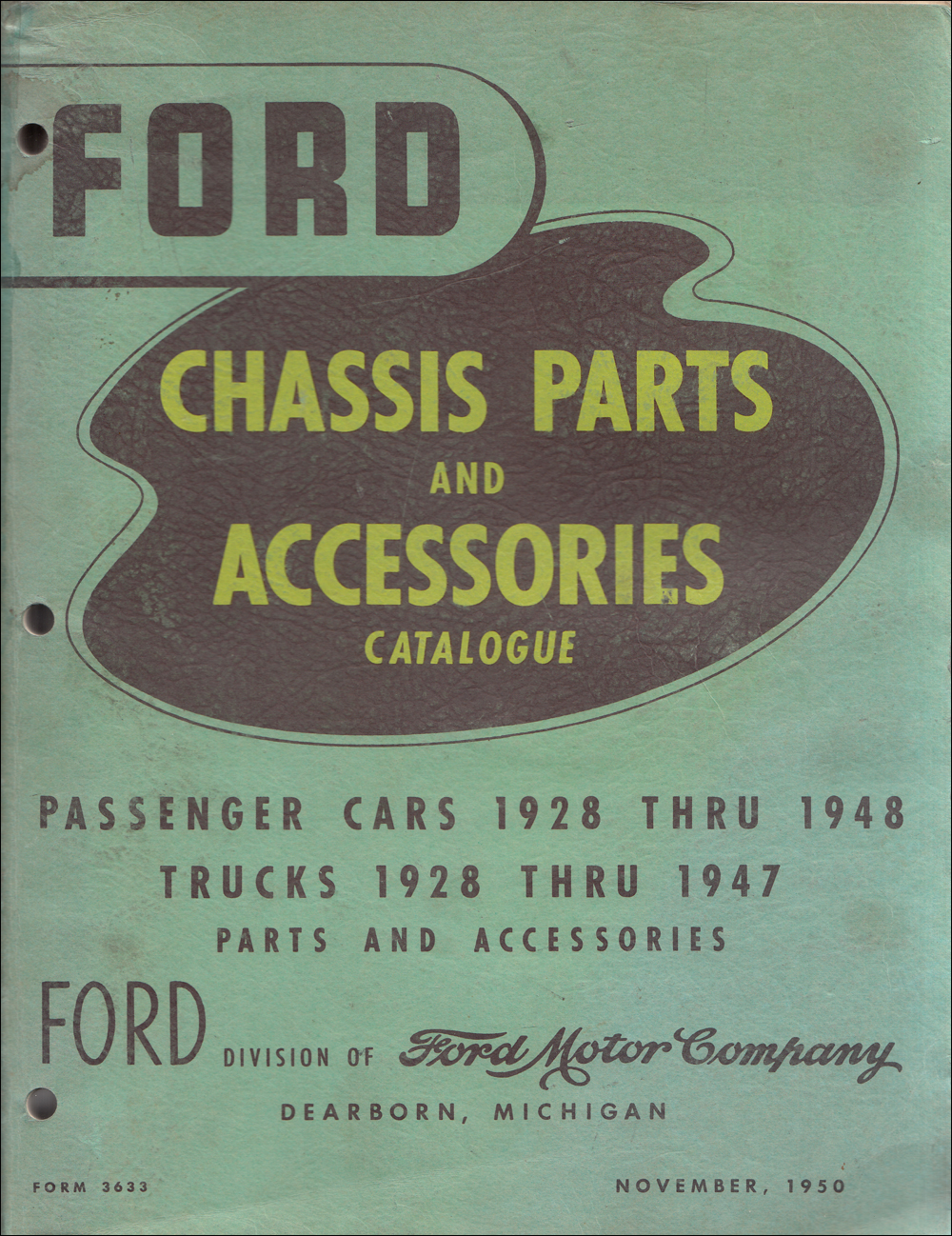 1928-1948 Ford Green Bible Mechanical Parts Book Original