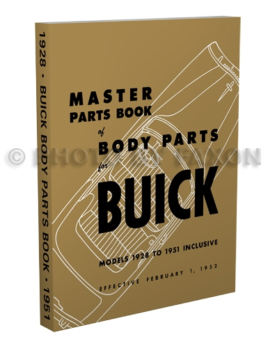 1942-1951 Buick Body Parts Book Reprint