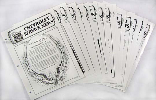 1928 Chevrolet Service News (12 issues) reprint