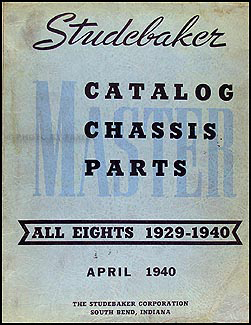 1929-1940 Studebaker 8 Cyl. Mechanical Parts Book Original