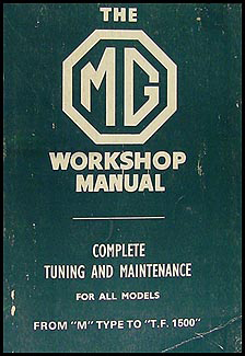 1929-1955 MG Bentley Repair Manual