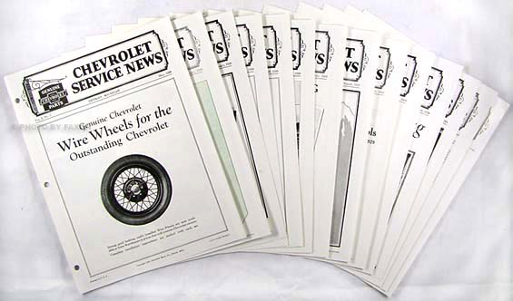 1929 Chevrolet Service News (12 issues) Reprint