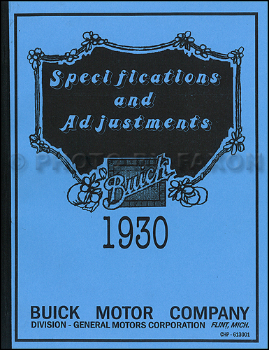 1930 Buick Shop Manual Reprint