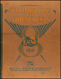 1931 Buick Shop Manual Original