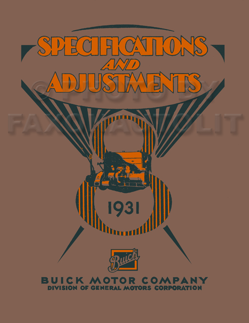 1931 Buick Shop Manual Reprint