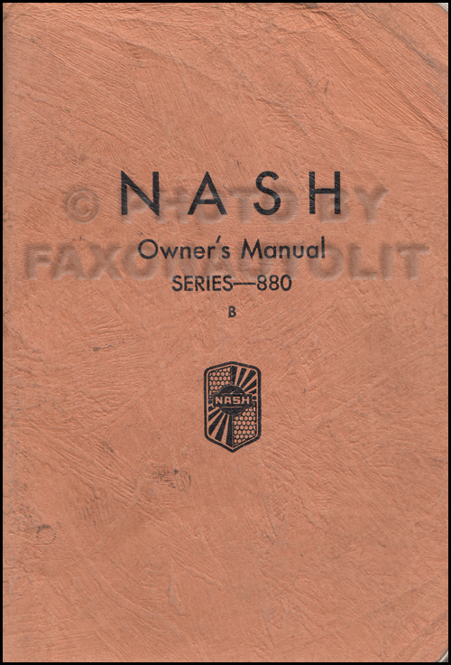 1931 Nash Twin Ignition Eight-80 B Owner's Manual Original 2nd edition