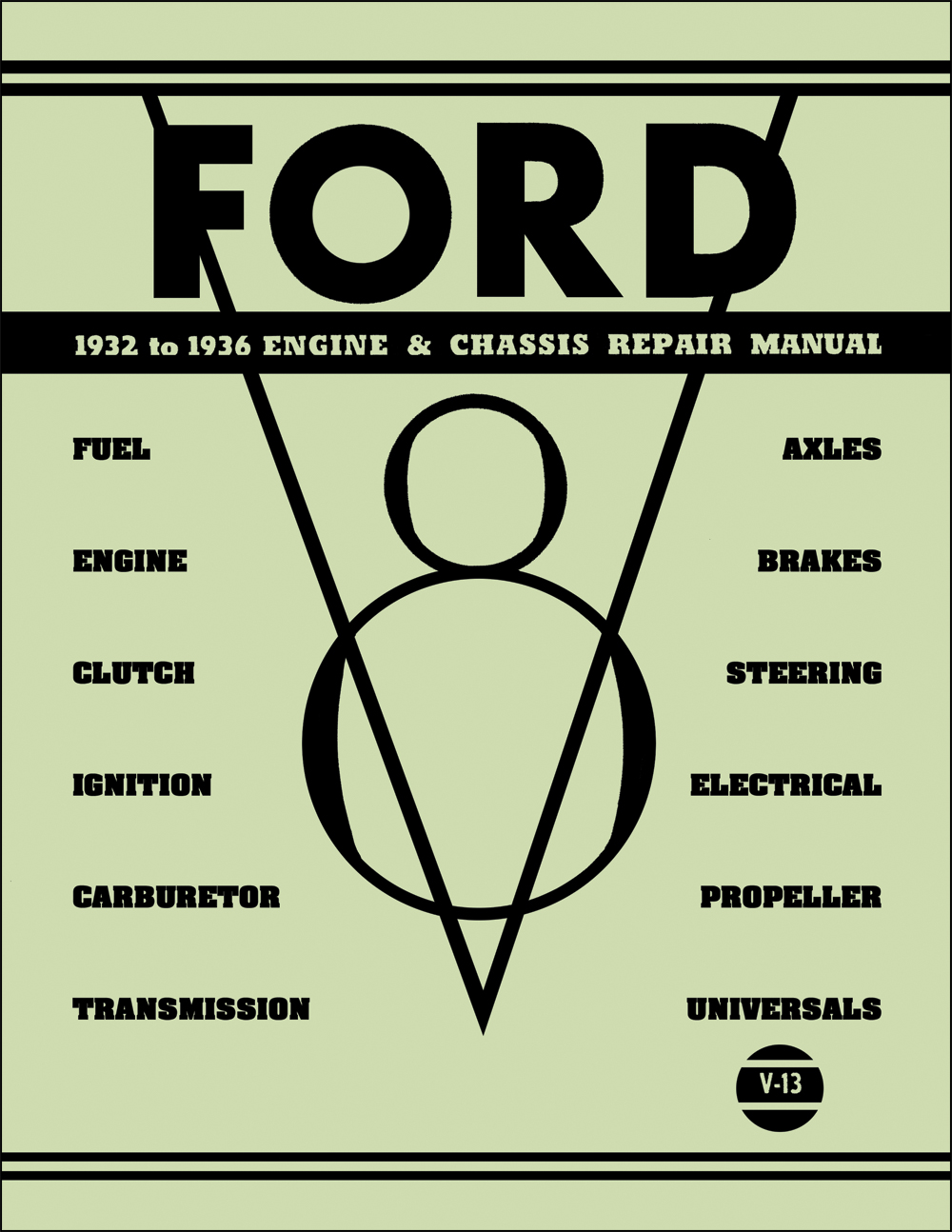 1932-1936 Ford Engine & Chassis Repair Manual Reprint