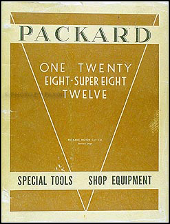 1932-1936 Packard Special Equipment & Tools Manual Original