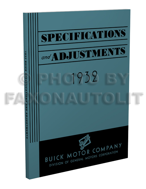 1932 Buick Shop Manual Reprint for All Models