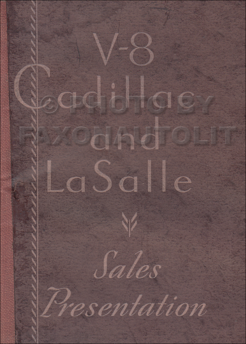 1932 Cadillac V8 and LaSalle Data Book Original