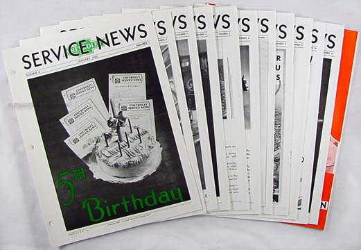 1932 Chevrolet Service News (12 issues) Reprint - History, Accessories, Parts & Repair Changes