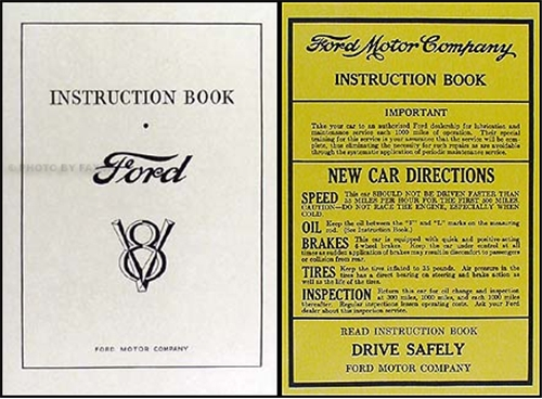 1932 Ford V8 Car & Pickup Owner's Manual Reprint