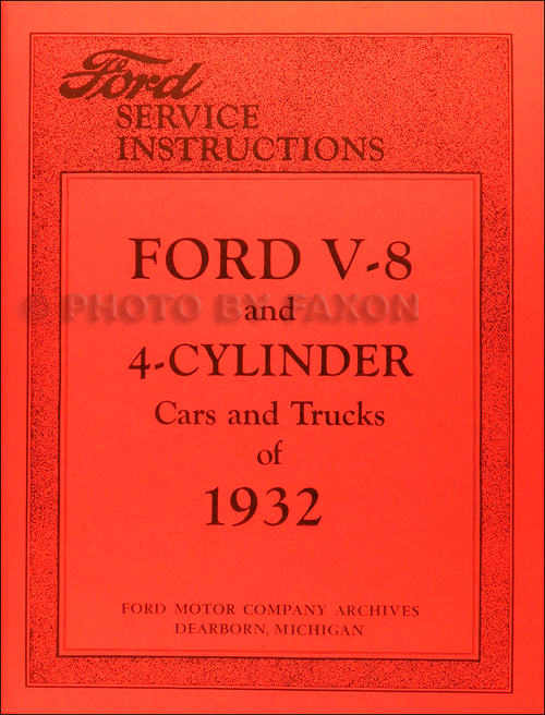 1932 only Ford Service Bulletins Manual Reprint
