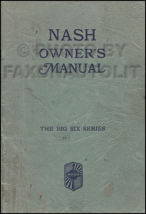 1932 Nash Big Six 1060 Owner's Manual Original