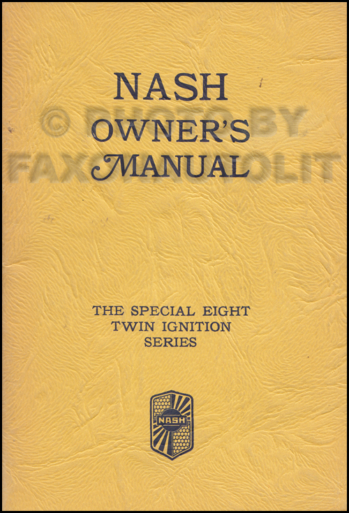 1932 Nash Special Eight 1080 Owner's Manual Original
