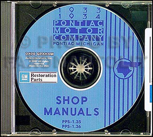 1933-1934 Pontiac CD-ROM Shop Manual