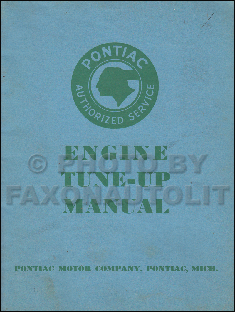 1933-1934 Pontiac Engine Tune-Up Shop Manual Original