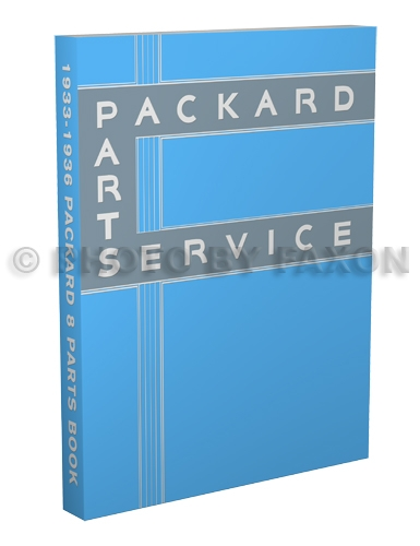1933-1936 Packard Eight Parts Book Reprint