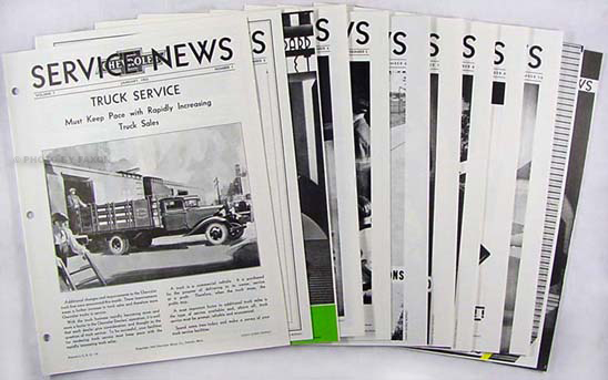 1933 Chevrolet Service News 12 issues Reprint of Manual Revisions